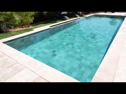 carostyl carrelage bali grey pour piscine turquoise youtube. Black Bedroom Furniture Sets. Home Design Ideas