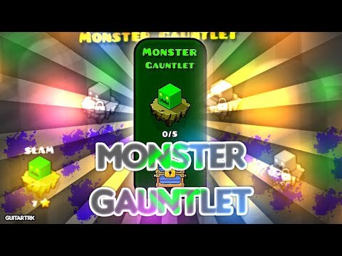 """""""Monster Gauntlet"""" COMPLETE [All Levels] - Geometry Dash!"""