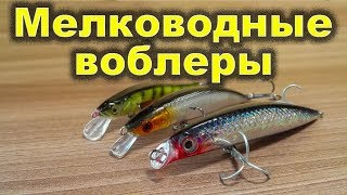 Воблеры для ловли хищной рыбы.  Мелководные воблеры на щуку. Wobblers for catching