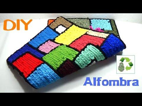 112 manualidades alfombra de trapillo reciclaje - Como hacer alfombras con trapillo ...