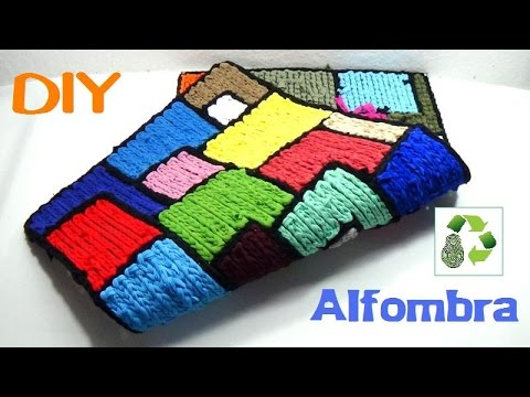 112 manualidades alfombra de trapillo reciclaje - Ver como hacer manualidades ...