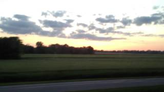 Pullman Rail Journeys - Sunset View over the fields of Mississippi