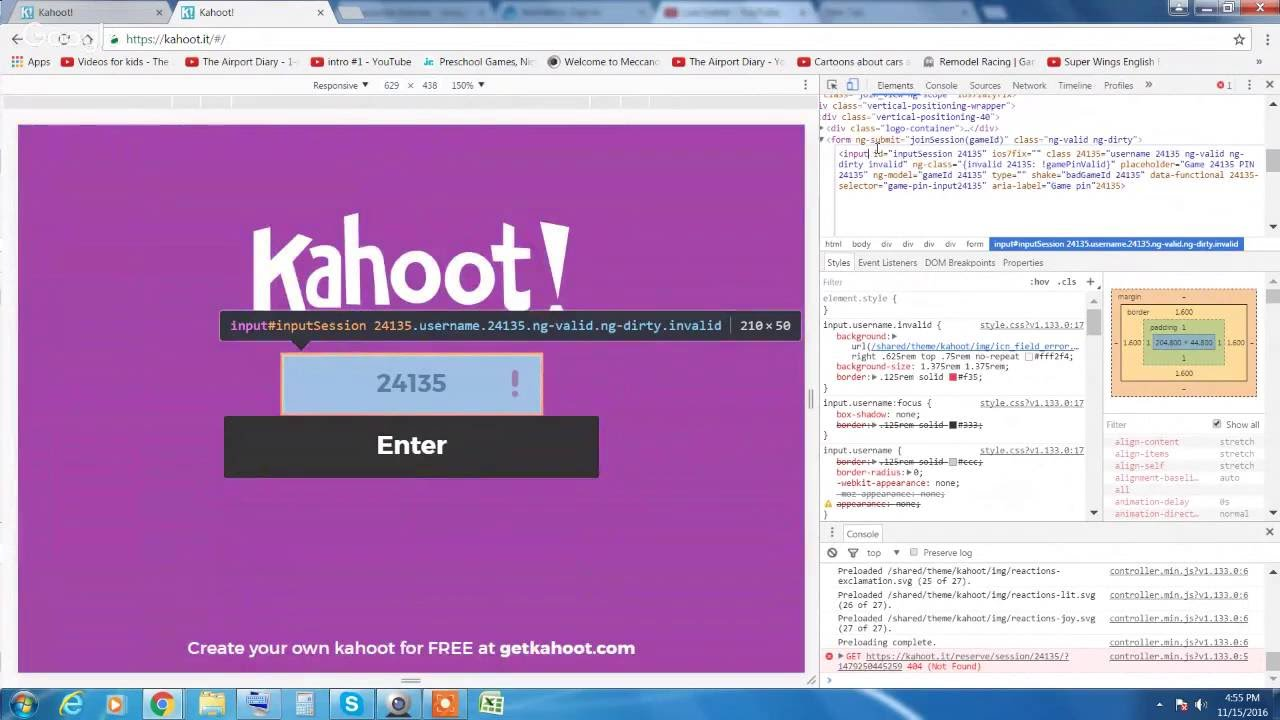 how to hack a free <b>kahoot code</b> - YouTube