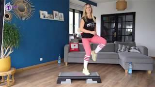 COURS DE STEP - NIVEAU FACILE - Jessica Mellet - Cardio Fitness