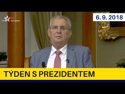1. poprázdninový Týden s prezidentem 6.9.2018. Miloš Zeman v pořadu Jaromíra Soukupa