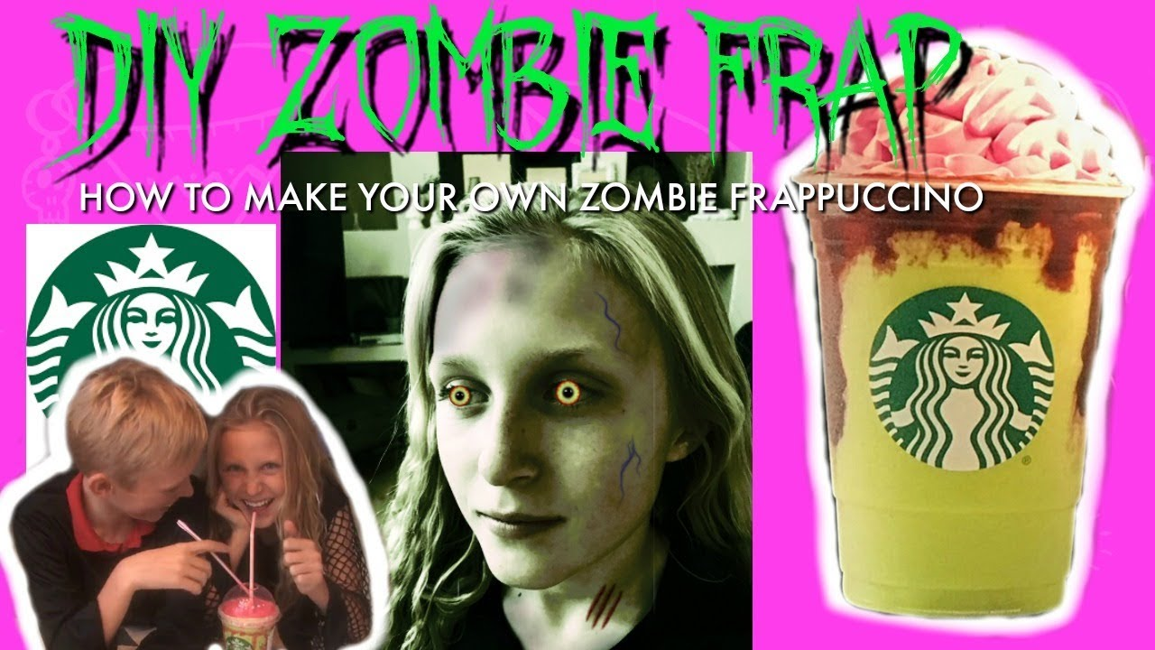 How to make a starbucks zombie frappuccino i diy i how for Crafts for kids com