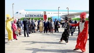 O'zbekiston Prezidenti Hindistonga keldi (