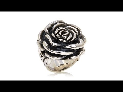 King Baby Jewelry Sterling Silver Bold Rose Ring - YouTube