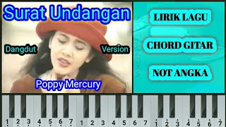 Poppy Mercury - Surat Undangan (Chord Gitar & Not Angka)