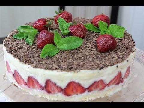Клубничный торт Фрезье/Fraisier - очень нежный, легкий и изумительно вкусный.