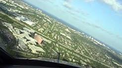 Embraer Legacy - Boca Raton Airport - Approach & Landing Runway 5