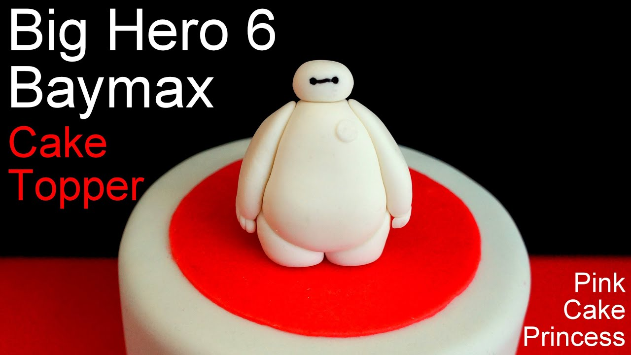 Big Hero 6 Baymax Cake Topper How to by Pink Cake Princess YouTube
