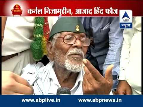 Modi seeks blessings of freedom fighter Col. Nizamuddin