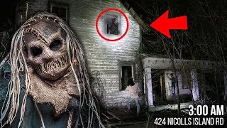 DO NOT ENTER THIS SCARY HAUNTED HOUSE AT 3 AM!! *CREATURE ATTACKED US*