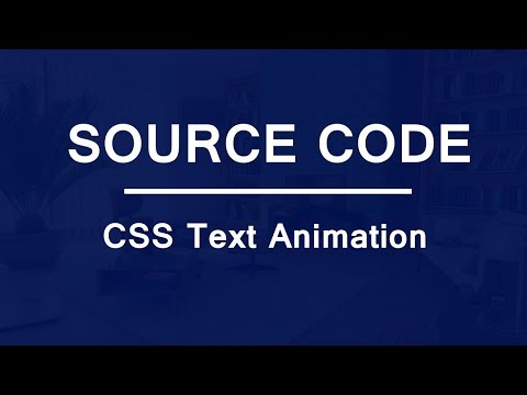 Simple Text Animation using HTML and CSS ( Source Code )
