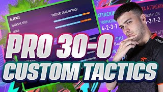 MY FIFA 21 30-0 PRO CUSTOM TACTICS + PLAYER INSTRUCTIONS!! THIS GOT ME TOP 100 WITH A 500K TEAM!