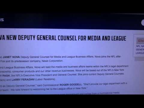 Janet Nova New NFL Deputy General Council For Media And League Business Affairs