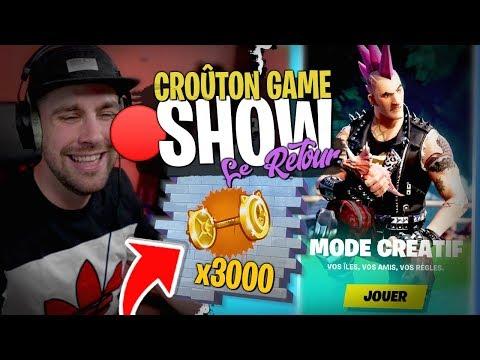 Le Retour Du Croûton Game Show Sur Fortnite Créatif !