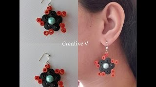 Quilling Earring Tutorial / Design 57