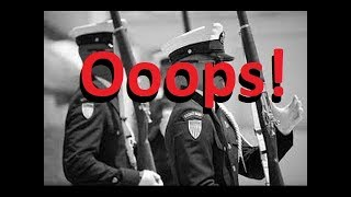 "USCG Silent Drill Team  with an Oops! (""Military Ceremony Fail"") 2016 New York CIty"