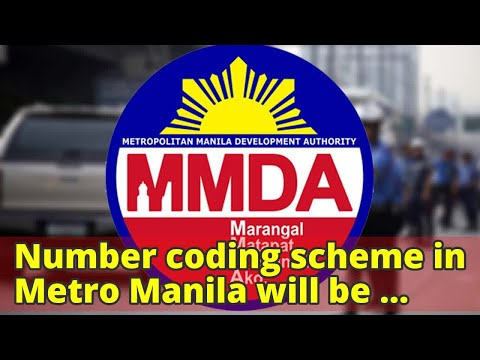 Number coding scheme in Metro Manila will be lifted tomorrow, MMDA announced