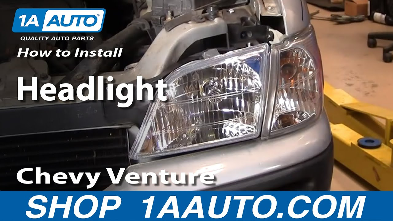 how to install replace headlight chevy venture pontiac montana more 97 05 1aauto com youtube [ 1920 x 1080 Pixel ]