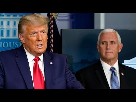 'Didn't have the courage': Donald Trump turns on Mike Pence