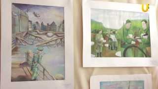 Художественная выставка детских рисунков о войне
