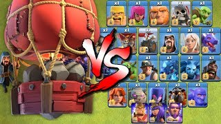 Stone Slammer vs ALL TROOPS! New Siege Machine in Clash of Clans Update!
