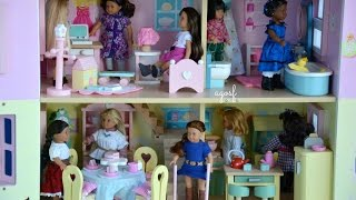 American Girl Doll House With Furniture And Dolls! Hd Watch In Hd!