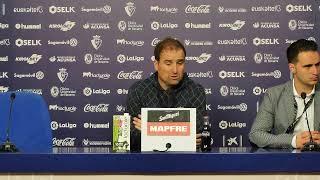 Rueda de prensa de Jagoba Arrasate | C. A. Osasuna vs Villarreal C. F.