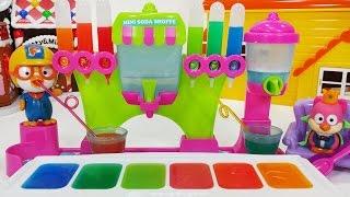맛있는 미니 소다샵 메이커 보글보글 탄산 음료수 만들기 뽀로로 장난감 요리놀이 Yummy Nummy Mini Kitchen Playset Soda Shoppe Maker toys