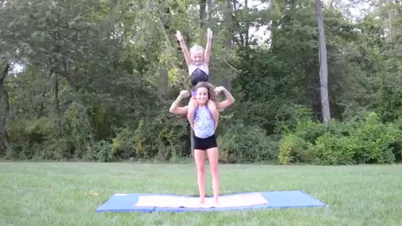 2 Person Acro Stunts  YouTube