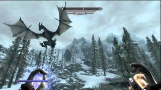 Skyrim: Killing the Dragon Sahloknir.
