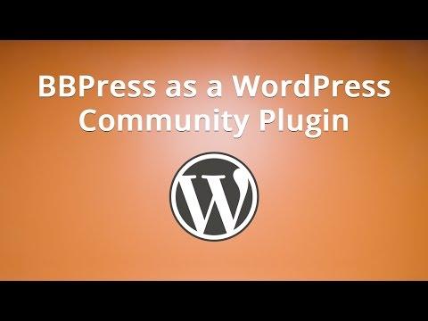 BBPress as a WordPress Community Plugin