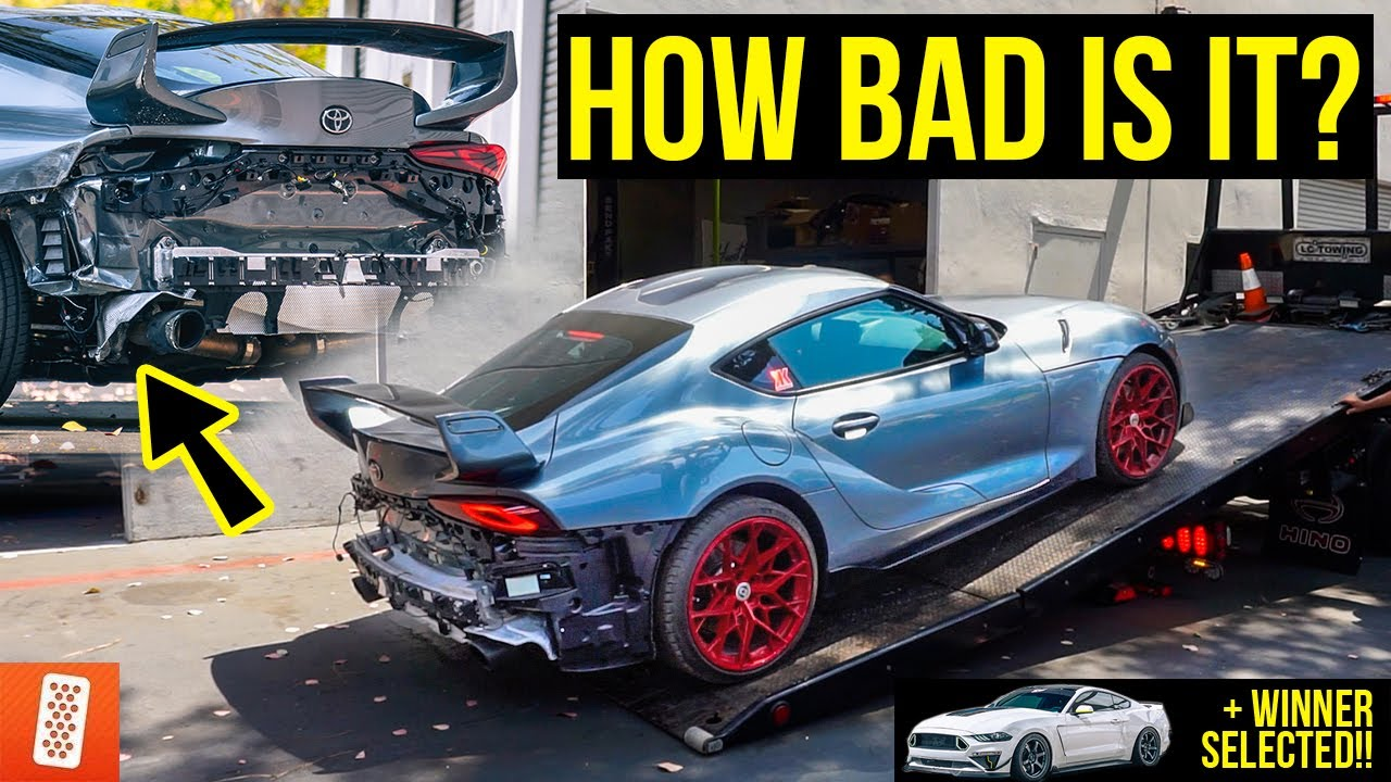 We Bought a CRASHED 2020 Toyota Supra from @Tj Hunt/@Kuya Calvin & We're going to Rebuild it!