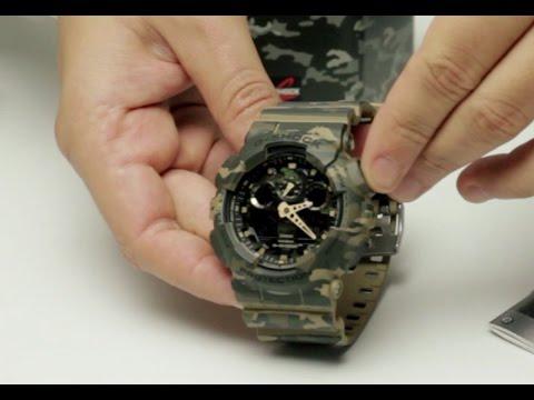 CASIO G SHOCK CAMUFLADO GA 100CM ADR Reloj de Hombre Camuflado para Actividades al Aire Libre