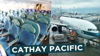 Cathay Pacific OLD Economy Class | 777-300 Roundtrip Hong Kong to Bangkok