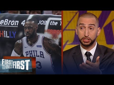 Nick Wright on why LeBron took his talents to the Lakers over Philly | NBA | FIRST THINGS FIRST