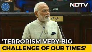 State Sponsored Terrorism Biggest Threat PM Modi In Maldives Parliament
