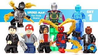 Spider-Man Far From Home w/ Mysterio & Hydro-Man Unofficial LEGO Minifigures Set 1