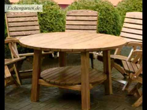 runde gartentisch youtube. Black Bedroom Furniture Sets. Home Design Ideas
