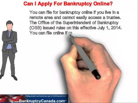 Can I apply for bankruptcy online?