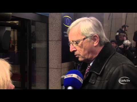 Luxembourg PM Jean-Claude Juncker arrives at the February 2013 EU Summit Council