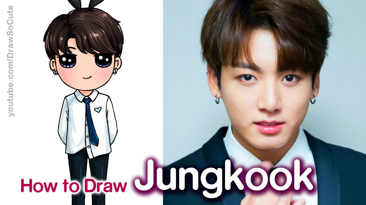 How To Draw Bts Jungkook Tiny Tan Youtube