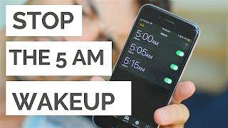 STOP Waking up at 5 AM