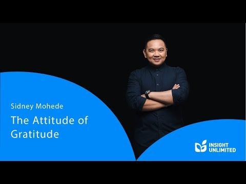 Sidney Mohede - The Attitude Of Gratitude