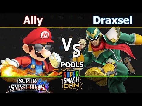 C9|Ally (Mario) vs. LML|Draxsel (C. Falcon) - Wii U Singles Pools - SSC2017