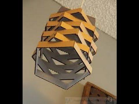 Kerajinan Tangan dari karton Bekas-membuat Lampu Hias - YouRepeat