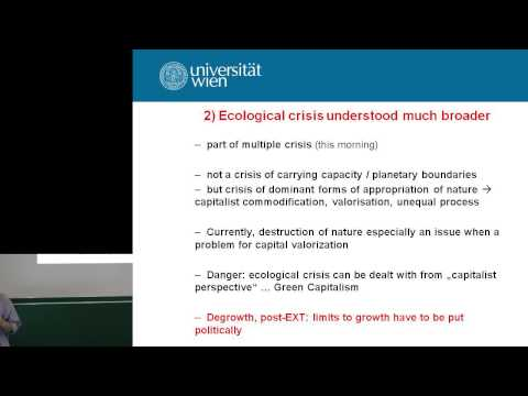Ulrich Brand: Post-Extractivism and Degrowth - Degrowth Leipzig 2014